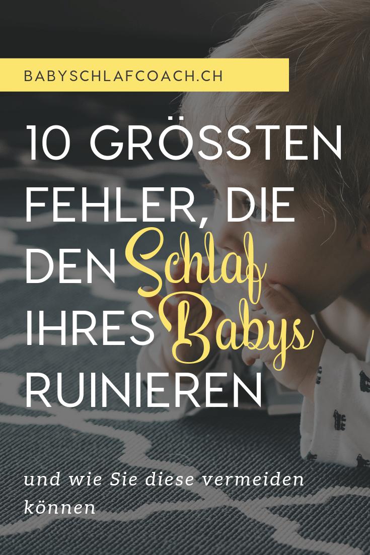 Wäre es nicht schön, wenn jedes Kind gut schlafen würde? Eigentlich können wir die meisten Schlafprobleme bei Babys leicht verhindern! Erfahren Sie die 10 größten Fehler, welche den Schlaf Ihres Babys ruinieren können.